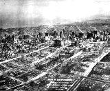منظره گوشه ای از شهر پس از وقوع زلزله که با خاک یکسان شده است