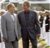 بوش و پوتین در کمپ دیوید
