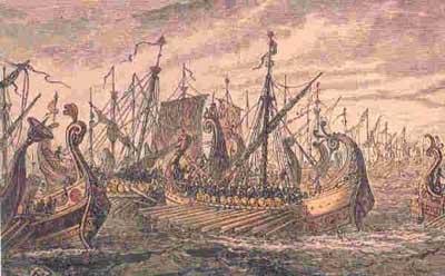 منظره جنگ دريائي سالاميس