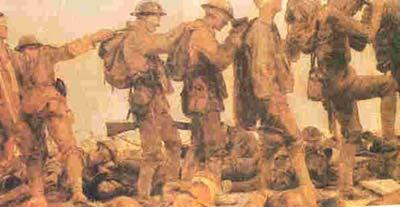 سربازان انگليسي در آوريل 1915پس از اين كه با گاز كلرين مورد حمله قرار گرفته بودند