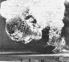 کشتی هوایی آتش گرفت