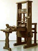 دستگاه چاپ مدل گوتنبرگ