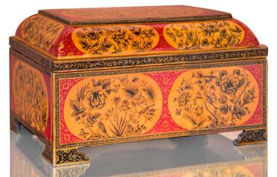پاپیه ماشه, نخستین قلمدان نگاری
