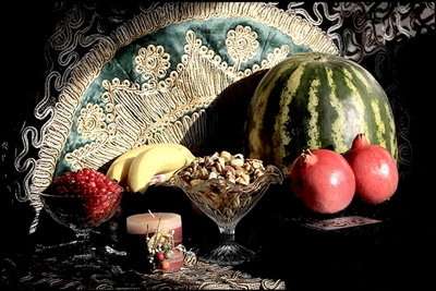 رسوم مردم آذربایجان در شب یلدا , آداب و رسوم شب چله