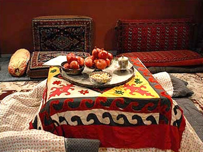 رسوم شب یلدا در کرمانشاه , آداب و رسوم مردم کرمانشاه