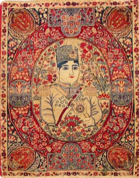 فرش در دوره قاجار,فرش و فرشبافی در دوران قاجاریه,قالی های تصویری دوره قاجار