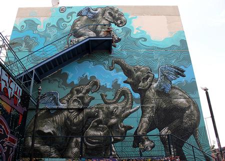 روش کشیدن نقاشی خیابانی, عکس نقاشی خیابانی زیبا