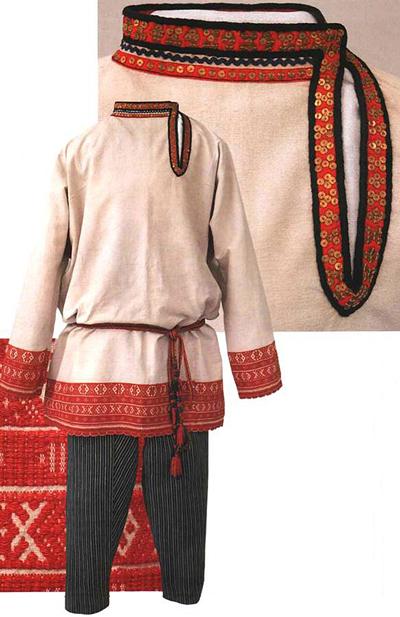 ویژگی های لباس سنتی, لباس سنتی مردان روسی