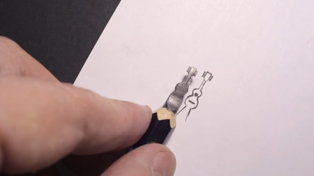 مجسمه سازی با نوک مداد, مجسمه سازی های کوچک