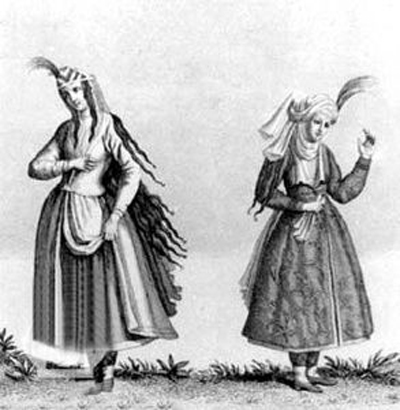 تاریخچه پوشاک زنان ایران, ایرانیان پوشاک زنان
