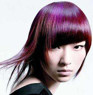 Purple Hair Color.