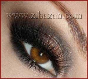 عکس مدل ارایش خط چشم ریمل سایه چشم حرفه ای جدید