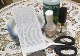 روش چاپ روزنامه روی ناخن با عکس و توضیحات