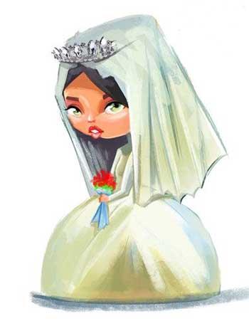 آرایش عروس, آرایش صورت, عروس زيبا