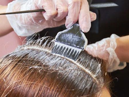 رنگ مو,دكلره كردن موهاي سر,موهاي خشک