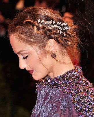 مدل موی ستاره ها در مراسم عروسی , مدل های بافته