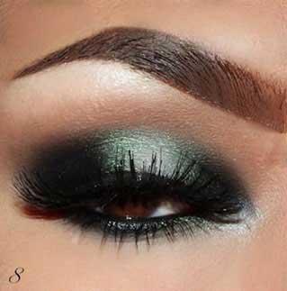 آرایش چشم ,آرایش چشم زیبا,آموزش تصویری آرایش چشم