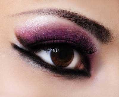 آرایش چشم 1395,آرایش های چشم با تم بنفش 1395