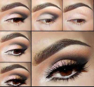 آموزش خودآرایی,مدل آرایش چشم,آموزش آرایش چشمها