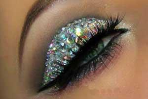آرایش چشم,آرایش چشم براق ,آرایش چشم زیبا