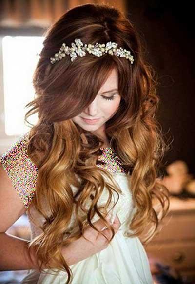 جدیدترین مدل های آرایش موی عروس برای تابستان 2014