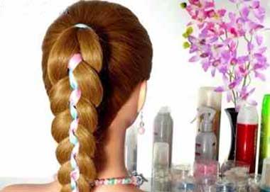 آموزش بافت مو با ربان