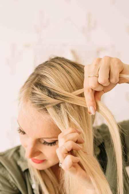 بافتن موها,روش جدید بافت مو ,بافت ساده موها