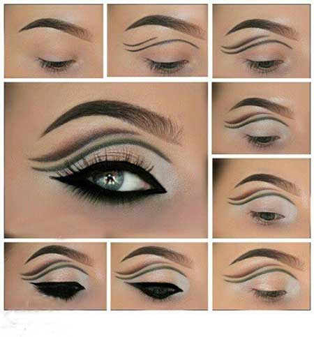 آموزش آرایش چشم مجلسی و ترکیبی جدید