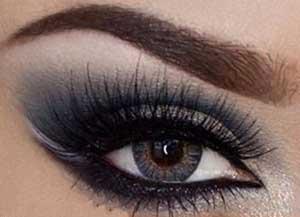 آرایش چشم,آرایش چشم دودی,آرایش چشم دودی زیبا