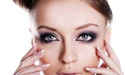 آرایش تیره چشم,روش آرایش دودی چشم,آرایش دودی چشم