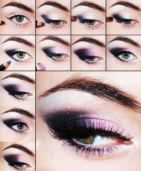 آرایش چشم بنفش,مدل آرایش چشم بنفش,آرایش چشم رنگ بنفش
