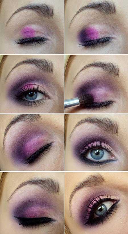 ,مدل آرایش چشم رنگ سال تم بنفش,آرایش بنفش 2014,زیبا ترین آرایش بنفش چشم