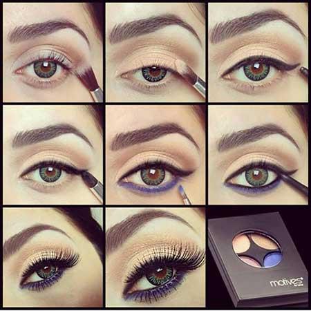 آموزش آرایش بنفش چشم 95,آرایش بنفش,مدل آرایش بنفش95