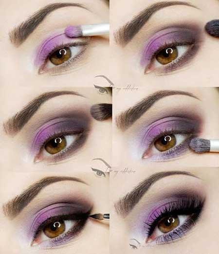 آرایش چشم بنفش,مدل آرایش چشم بنفش 95,آرایش چشم رنگ بنفش 95
