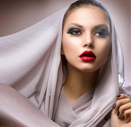 مدل آرایش صورت زنانه و دخترانه شیک