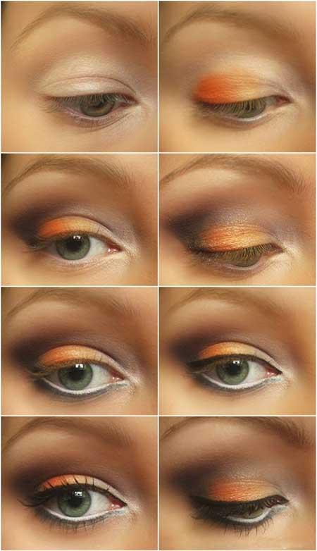آرایش چشم مخصوص پاییز
