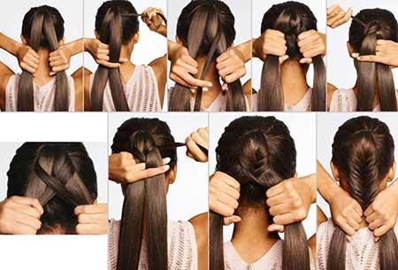آموزش تصویری آرایش مو