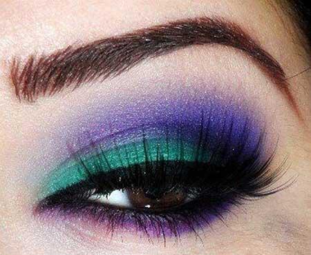 ایده های آرایش چشم جذاب برای سال جدید
