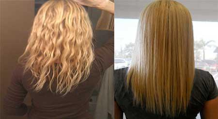 روش خانگی برای صاف کردن موها