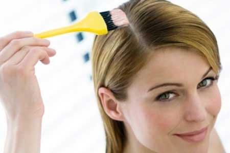 قبل از رنگ کردن موها