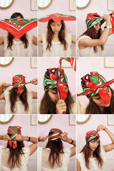 روشهای بستن دستمال سر