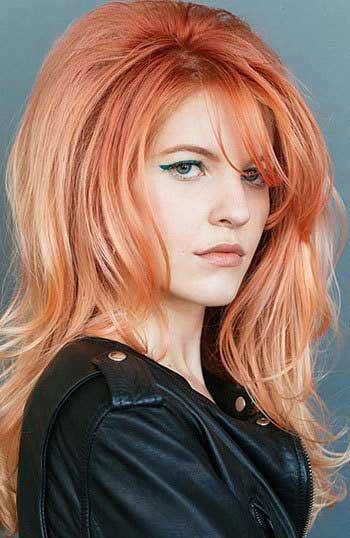 عکس مدل مو باز زنانه دخترانه رنگ مو عروس نامزدی 2019-2018 امسال عید نوروز 98 model moo zanane range moo-girly hair style women new embedded_shoulder-length-feathered-haircutembedded_honey-blonde-hair-color