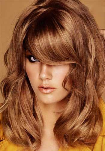 عکس مدل مو باز زنانه دخترانه رنگ مو عروس نامزدی 2017-2018 امسال عید نوروز 96 model moo zanane range moo-girly hair style women new embedded_shoulder-length-feathered-haircutembedded_honey-blonde-hair-color