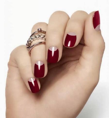 طرح های جذاب و زیبا ناخن با لاک قرمز