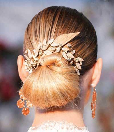 مدل های زیبای شنیون مو، مخصوص عروس خانم ها جذاب