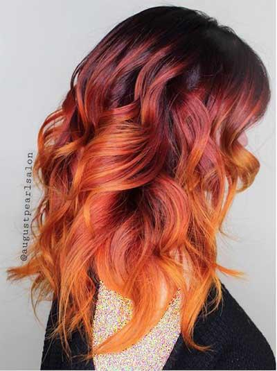 جدیدترین مد رنگ مو برای تابستان، رنگ مو آتشی
