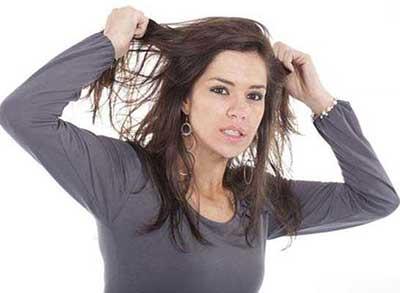 مشکل موهای چرب