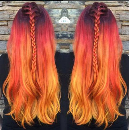 نارنجی شدن رنگ مو