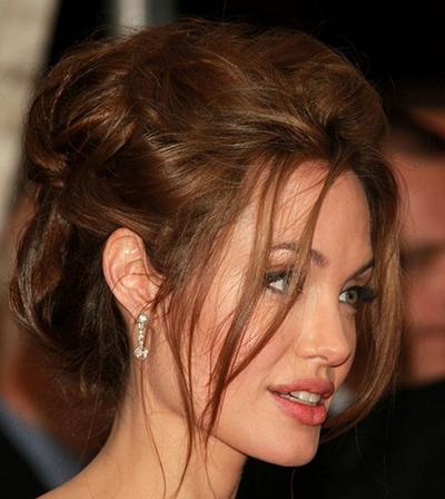 مدل مو جمع آنجلینا جولی