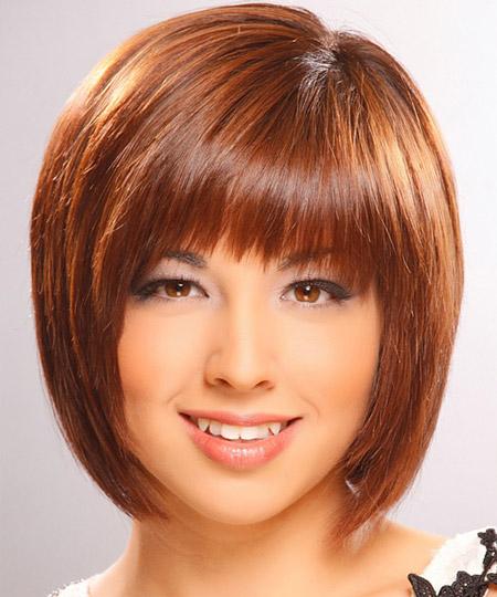 مدل مو کوتاه تابستانی برای صورت های گرد